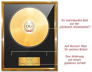 Vinyl Schallplatten Presswerk Gold Record Goldene